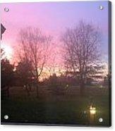 Sunset Elegant Fall Tree Show Skyview Resort Weekend Getaway To Poconos Pa America Usa Landscape Nav Acrylic Print