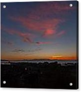 Sunset Everett Harbor Acrylic Print