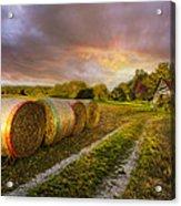 Sunset Farm Acrylic Print