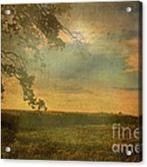 Sunset Farmland Acrylic Print