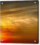 Sunset Feather Clouds Acrylic Print