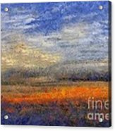 Sunset Field Acrylic Print