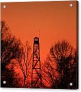 Sunset Fire Tower In Oconee County Acrylic Print
