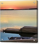 Sunset Fishing Acrylic Print