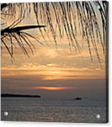 Sunset Fishing Acrylic Print by Susan Sidorski