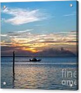 Sunset Fishing Acrylic Print by Tammy Smith