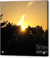 Sunset Flash Acrylic Print