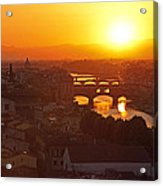 Sunset Florence Acrylic Print