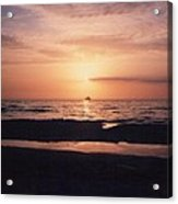 Sunset From Clearwater Beach Acrylic Print