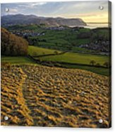 Sunset From Nant Y Gamar Acrylic Print