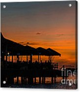 Sunset From Pelican Pier Acrylic Print