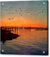 Sunset From Quincy Ma Acrylic Print