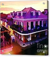 Sunset From The Balcony In The French Quarter Of New Orleans Acrylic Print