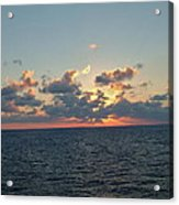Sunset From The Carnival Triumph Acrylic Print