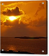 Sunset From The Dolphin Watch Cottage Acrylic Print