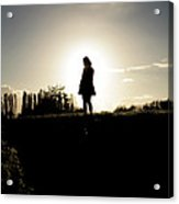 Sunset Girl Acrylic Print by Anthony Bean