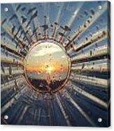 Adelaide Beach Sunset Glass Acrylic Print