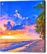 Sunset Glow On The Kona Coast Acrylic Print