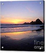 Sunset Gold Big Sur Acrylic Print
