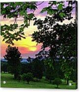Sunset Golf Course Acrylic Print