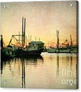 Sunset Harbor Glow Acrylic Print