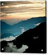 Sunset Himalayas Mountain Nepal Panaramic View Acrylic Print