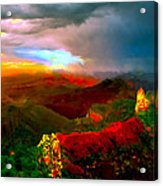 Sunset Imperial Peak North Grand Canyon Panorama Acrylic Print