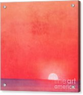Sunset Impression Acrylic Print by Angela Doelling AD DESIGN Photo and PhotoArt