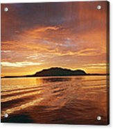 Sunset In Alesund Acrylic Print by Christine Rivers