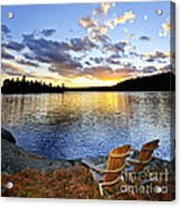 Sunset In Algonquin Park Acrylic Print