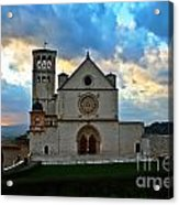 Sunset In Assisi Acrylic Print