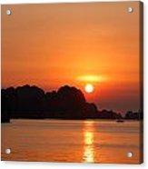 Sunset In Bai Tu Long Acrylic Print