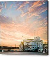 Sunset In Bari Acrylic Print