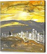 Sunset In Benidorm Acrylic Print