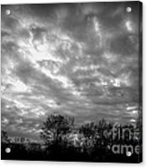 Sunset In Black And White Acrylic Print
