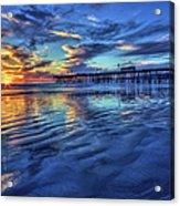 Sunset In Blue Acrylic Print
