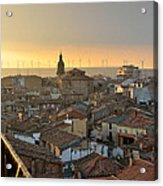 Sunset In Calahorra From The Bell Tower Of Saint Andrew Church Acrylic Print