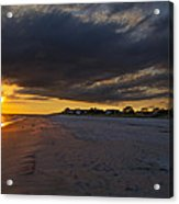 Sunset In Cape May Along The Beach Acrylic Print