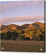 Sunset In Carmel Valley California Acrylic Print