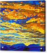 Sunset In Colorado Acrylic Print