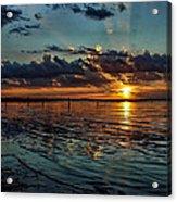 Sunset In Cyan Acrylic Print