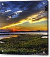 Sunset In Delaware Acrylic Print