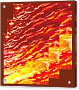Sunset In Desert Abstract Collage  Acrylic Print