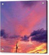 Sunset In Dunkirk Acrylic Print