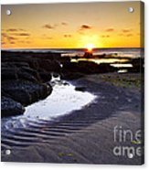 Sunset In Iceland Acrylic Print