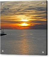 Sunset In Koper Acrylic Print