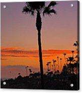 Sunset In Laguna Beach Acrylic Print