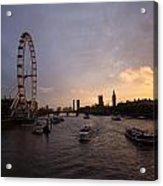 Sunset In London Acrylic Print