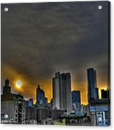 Sunset In Manhattan's Lower East Side Acrylic Print