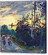 Sunset In Military Highway Norfolk Va Acrylic Print